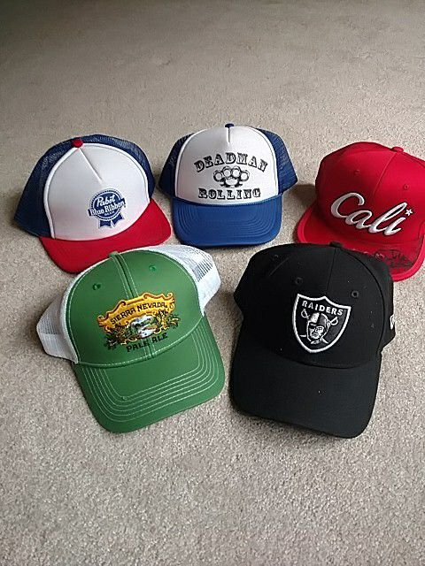 5 Snapback hats! Sierra Nevada Raiders Pabst Blue Ribbon Deasman rolling  for Sale in Rancho Cordova 7e87eda591d