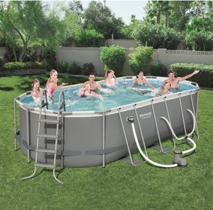 Photo Bestway Power Steel 18ft x 9ft x 48in Above Ground Pool Set with Pump