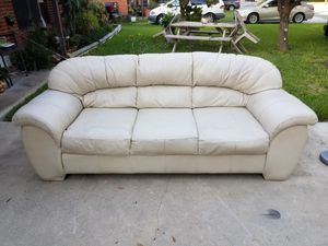 New and Used White leather couch for Sale in San Antonio, TX - OfferUp