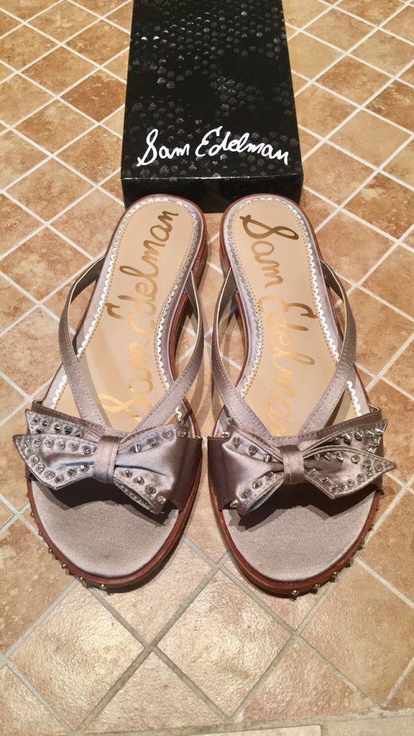 024c93aa9191 NIB Sam Edelman Dariel Studded Bow Slides Size 7.5 for Sale in ...