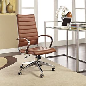 Modway Jive Highback Office Chair In Terracotta For Sale