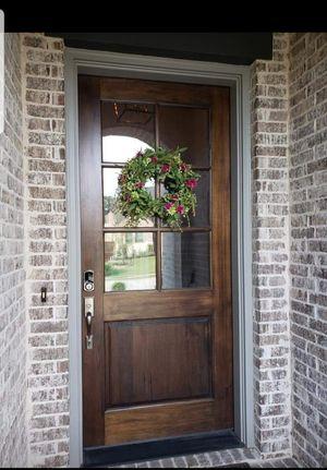 Photo Beautiful 8ft Mahogany Exterior Door with Keyless Entry Pad