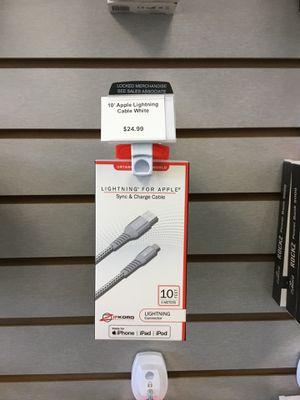 ZipKord 10' Apple Lightning Cable, used for sale  Derby, KS