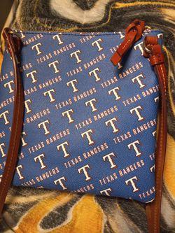 Texas Rangers Collectable Dooney And Burk Crossbody Thumbnail