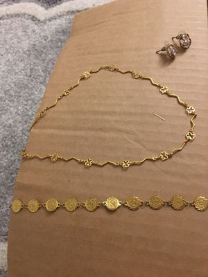 Necklace, bracelet and earrings for Sale in Gaithersburg, MD