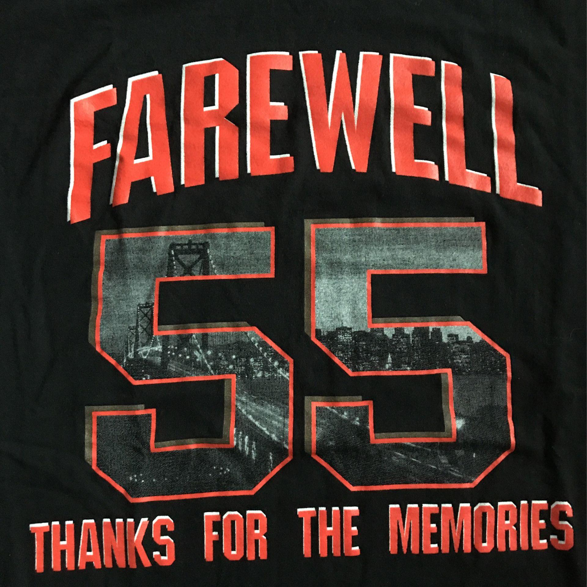 San Francisco Giants Tim Lincecum Farewell Shirt