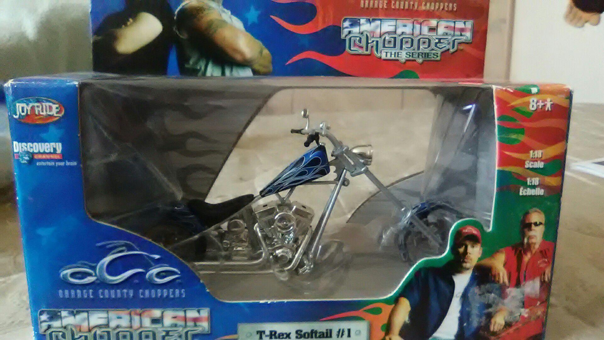 American chopper T-Rex Softail toy chopper.