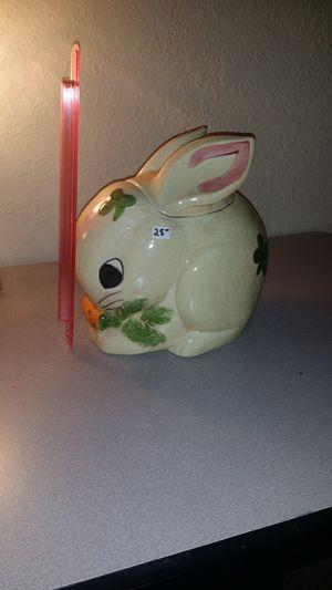 Rabbit Cookie Jar for sale  Tulsa, OK