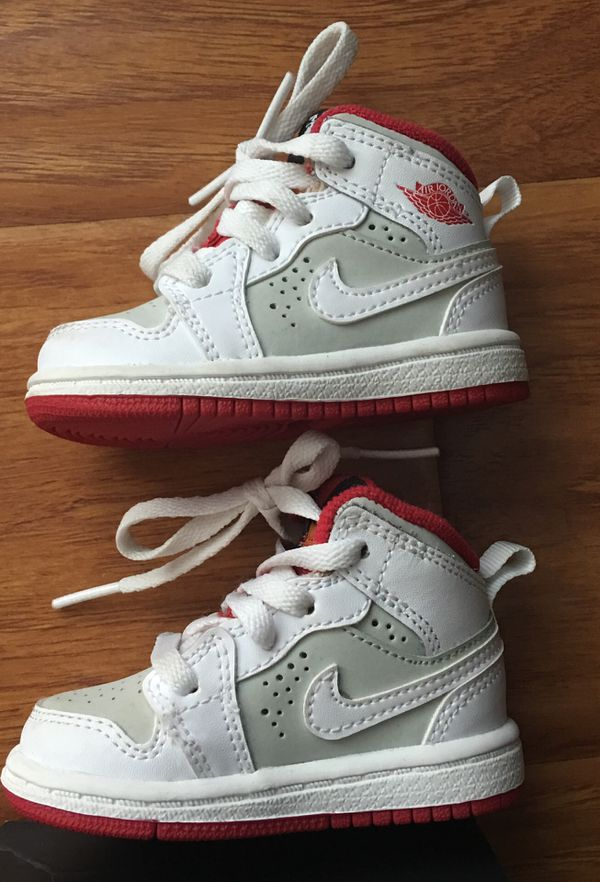 info for 5d24f ec7ce  40 Nike Air Jordan 1 Mid WB Hare WHITE Red Sneaker Toddler Boy Girl 3C