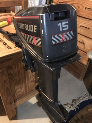 Evinrude 15hp Outboard motor. for Sale in Woodbine, MD