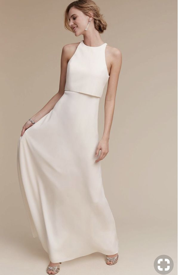 68a1d434d7 Simple minimalist French linen wedding dresses for Sale in ...
