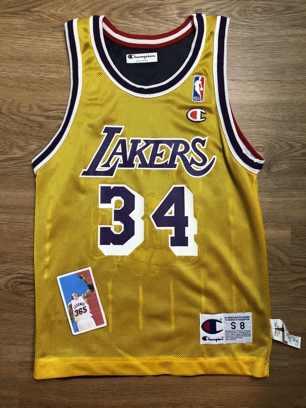buy online e3a7d e2e27 Shaq o'neal hakeem olajuwon LA lakers houston rockets champion NBA jersey  toddler baby infant size youth small s 6-8 shaquille for Sale in Portland,  ...