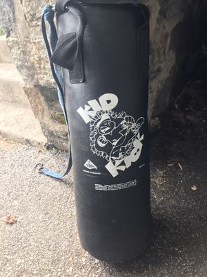 Photo Youth kick boxing bag