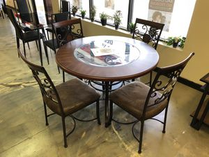 Beautiful Round Dining Table Set With 4 Chairs For Sale In Jacksonville FL