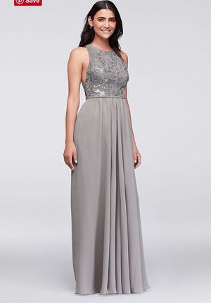Davids Bridal Sequin Lace Formal Prom Dress size 10 (Clothing ...