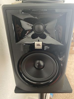 Photo Pair of JBL mk3s with stands, with box, never used