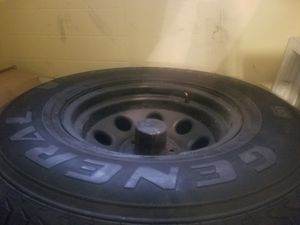 Photo FOR SALE Rims 5x9, 5x114.3, tires 31X10.50R15 ..5 rims total 4 with tires and centers good tread used for winter came off a wrangler