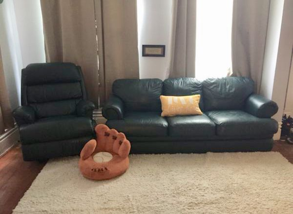 LAZBOY LEATHER SLEEPER SOFA + RECLINER for Sale in Calcutta, OH - OfferUp