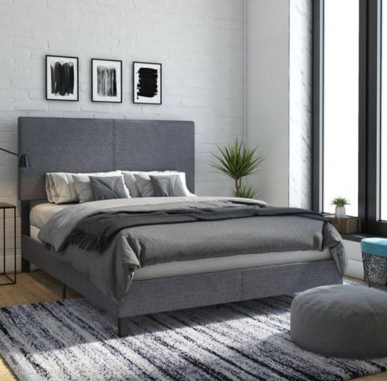 Upholstered queen bed frame - Delivery available