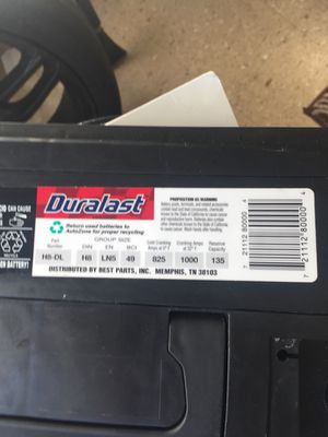 New duralast battery 825 cranking .. ... I have the same kind of battery in a BMW 745 and in a Mercedes-Benz CLK 320 for Sale in Pittsburgh, PA