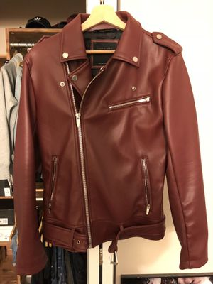 Zara red leather jacket. Size Small for Sale in Annandale, VA