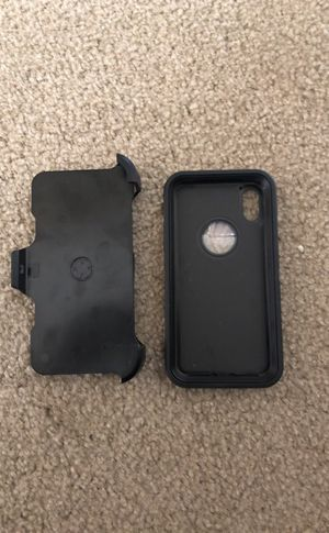 Otterbox Style iPhone X Case w/ Clip - Black for Sale in Baltimore, MD