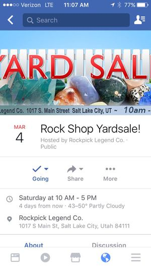 Rock shop going out of business for Sale in Salt Lake City, UT