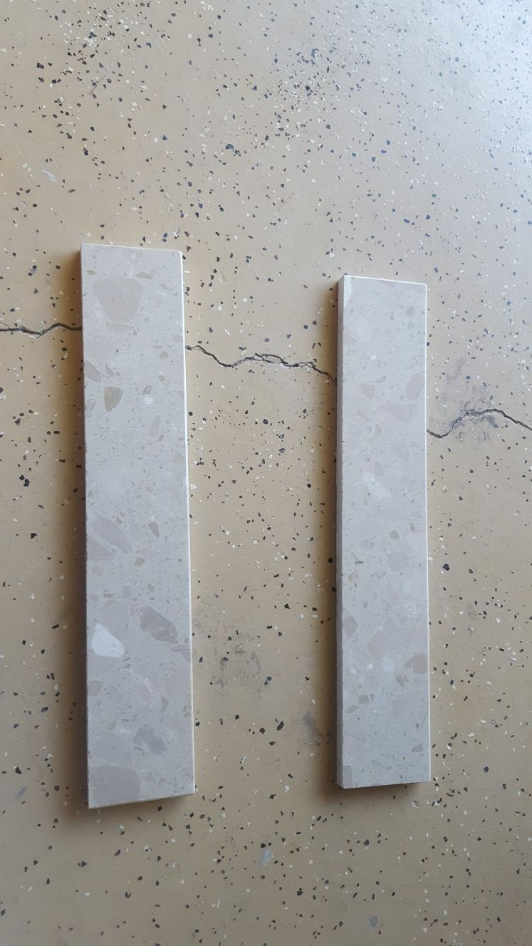 Granite backsplash sidesplash crushed marble
