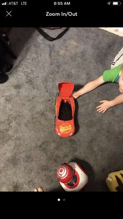 Lightning McQueen lunch box or toy storage Thumbnail
