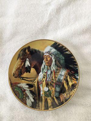 Pride off the Sioux. Decorative Plate 8 inches in diameter. No F4019 for Sale in Miami, FL