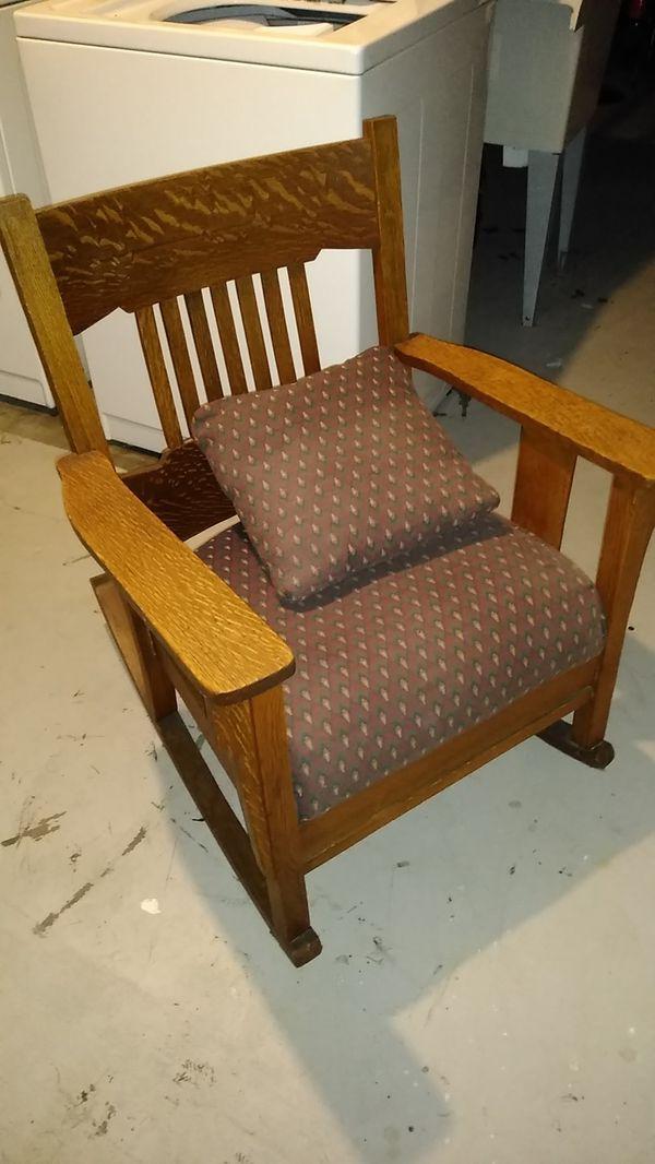 Homemade wooden rocking chair