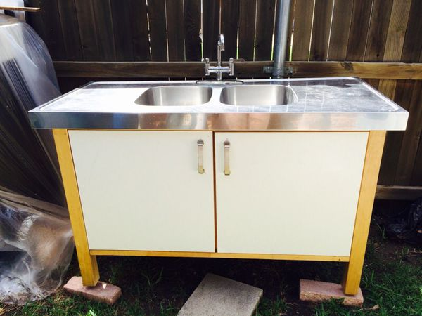 Ikea Varde Sink Cabinet With Double Bowl And Faucet For Sale In Dallas Tx Offerup