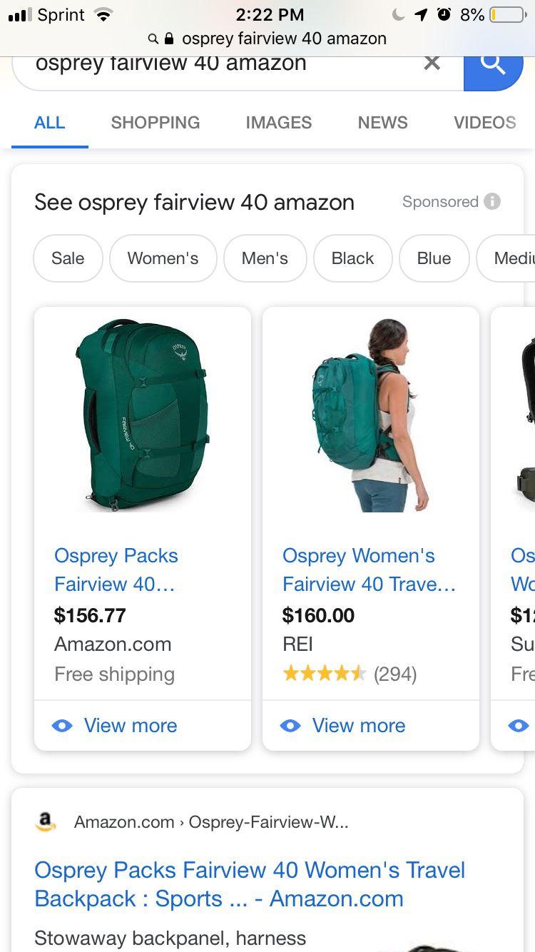 Osprey Fairview 40L backpack