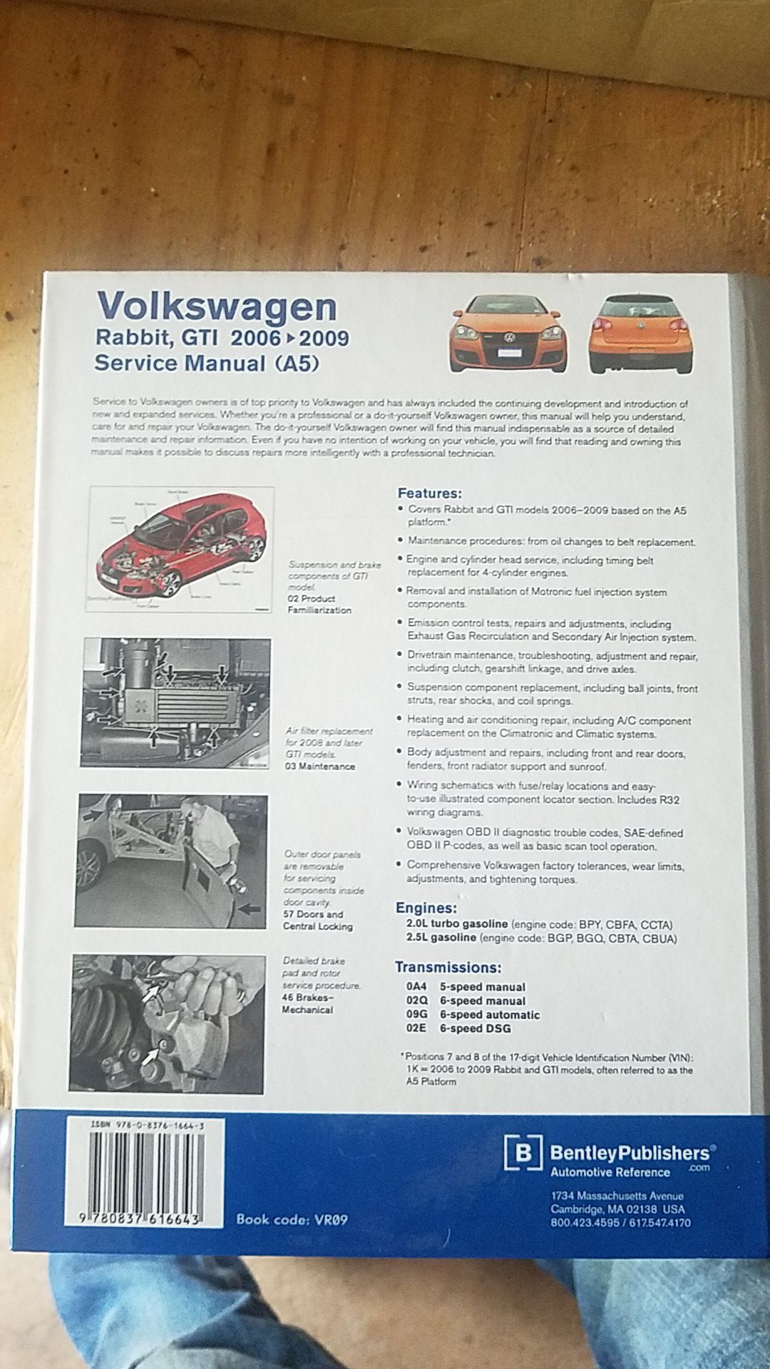 Volkswagen Rabbit, GTI service manual
