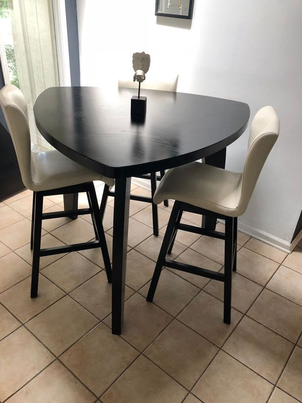 High Top Dining Table Set With Swivel Chairs Jacksonville FL