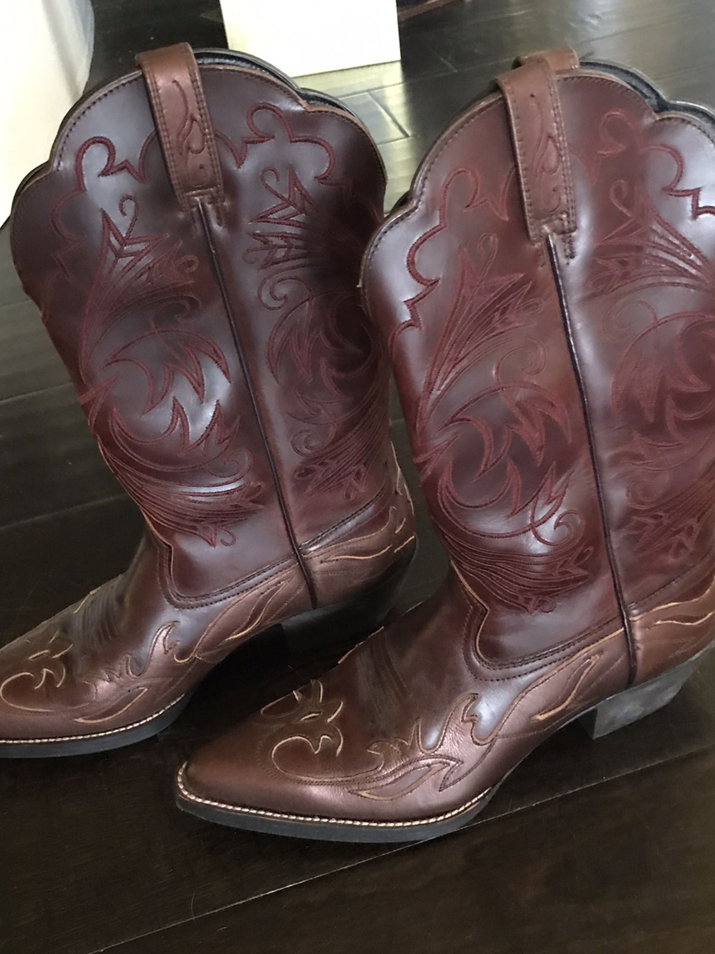 Leather Cow Boy Boots New