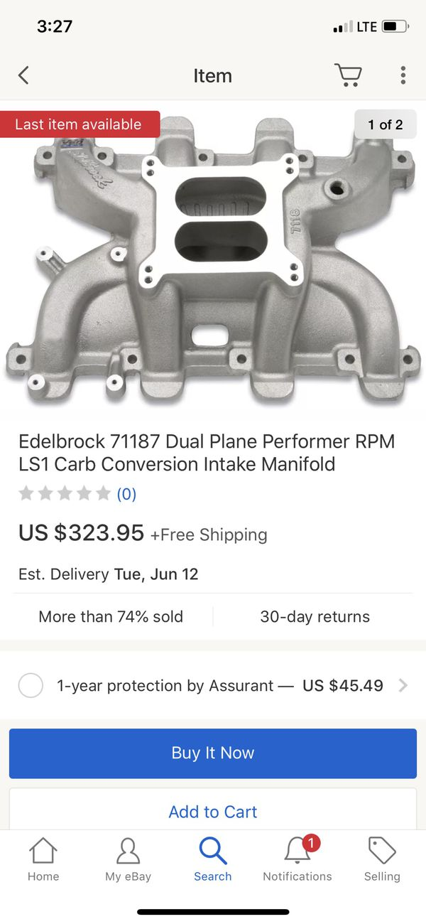 Ls cathedral port head carbureted intake for Sale in Virginia Beach, VA -  OfferUp