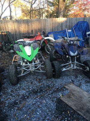 2010 kfx450r and 2005 trx450r for Sale in Beltsville, MD