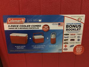 Coleman 3 Piece Cooler Combo for Sale in Fairfax, VA