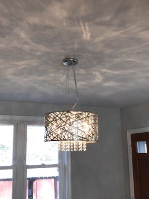 Article 7 light chrome chandelier with crystal pendant for Sale in Falls Church, VA