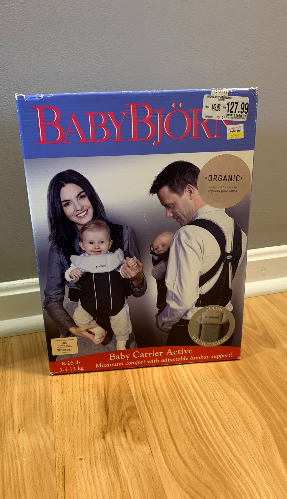 Baby Bjorn organic Baby Carrier front pouch