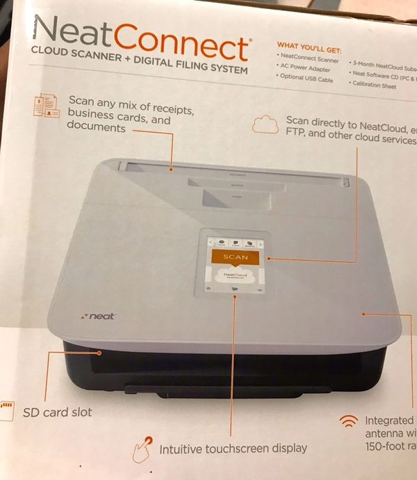 Neatconnect cloud scanner and digital filing system for pc and mac neatconnect cloud scanner and digital filing system for pc and mac business equipment in dublin ca offerup reheart Gallery