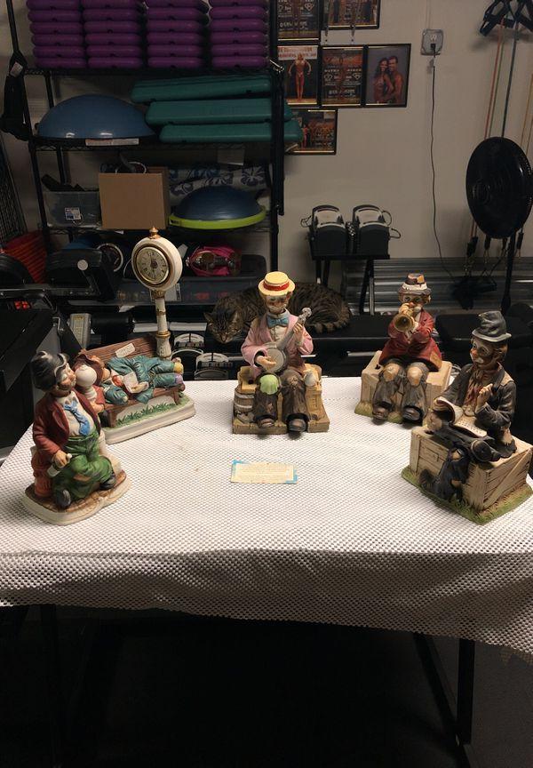 Emmett Kelly Clown collection  5 Pieces for Sale in Seminole, FL - OfferUp