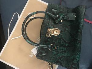 Guaranteed authentic Michael kors handbag python green for Sale in Tamarac, FL