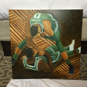 Jayson Tatum Jaylen brown oil painting for Sale in Boston, MA