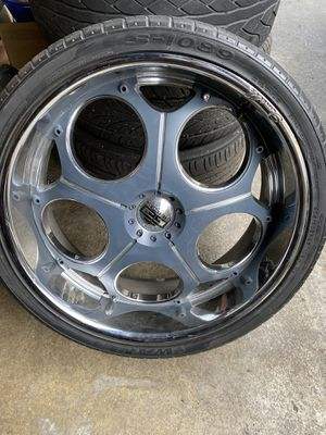 Photo 26 inch rims last ones left clean Two good tires two bad tires two tires are balanced two tires need to be changed