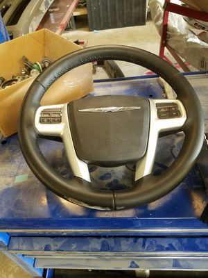 2013 Chrysler 200 steering wheel,air bag pass air bag with dash pad,module, front sensors for Sale in Arlington, VA