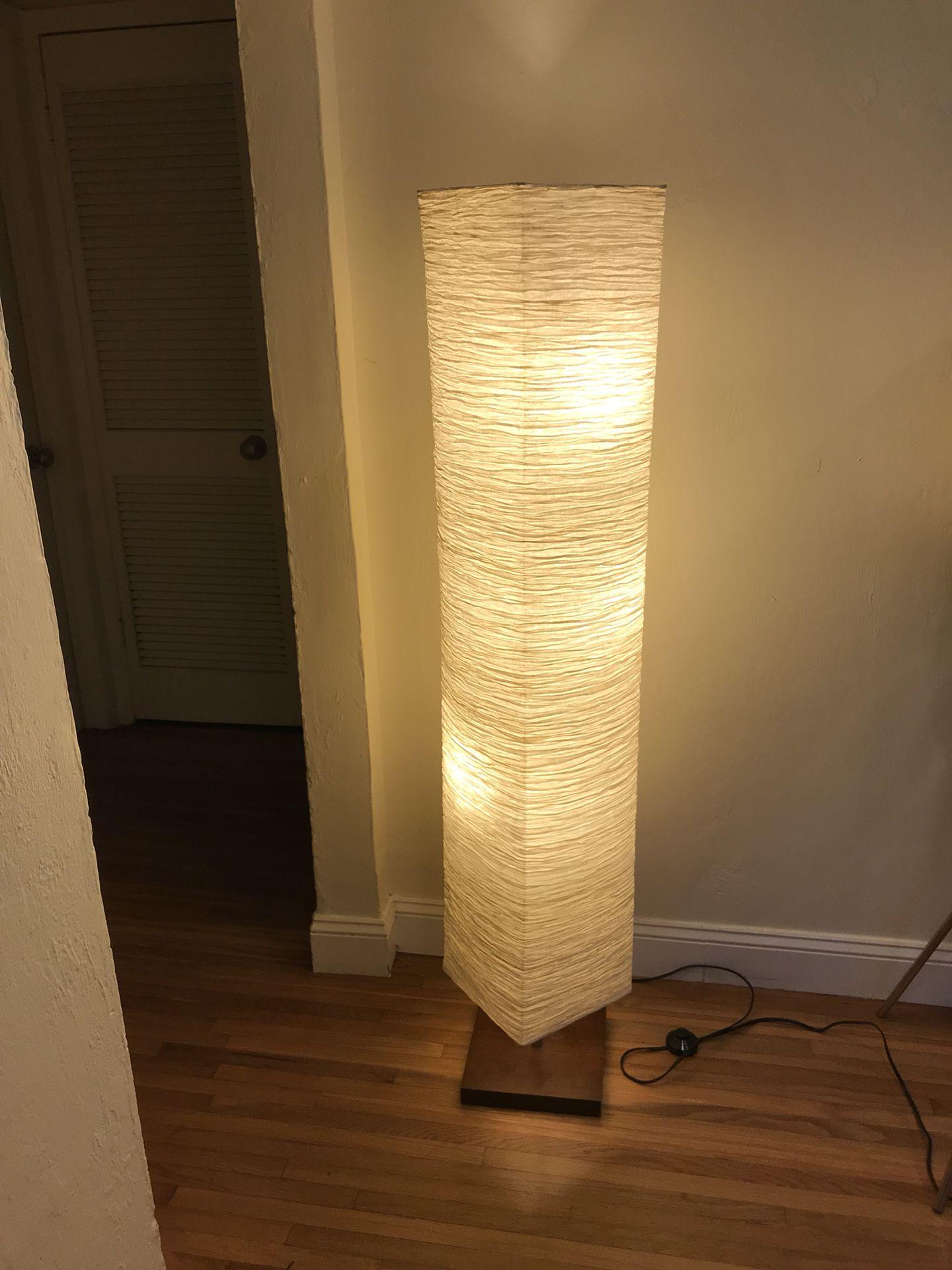 Floor lamp with three light bulbs
