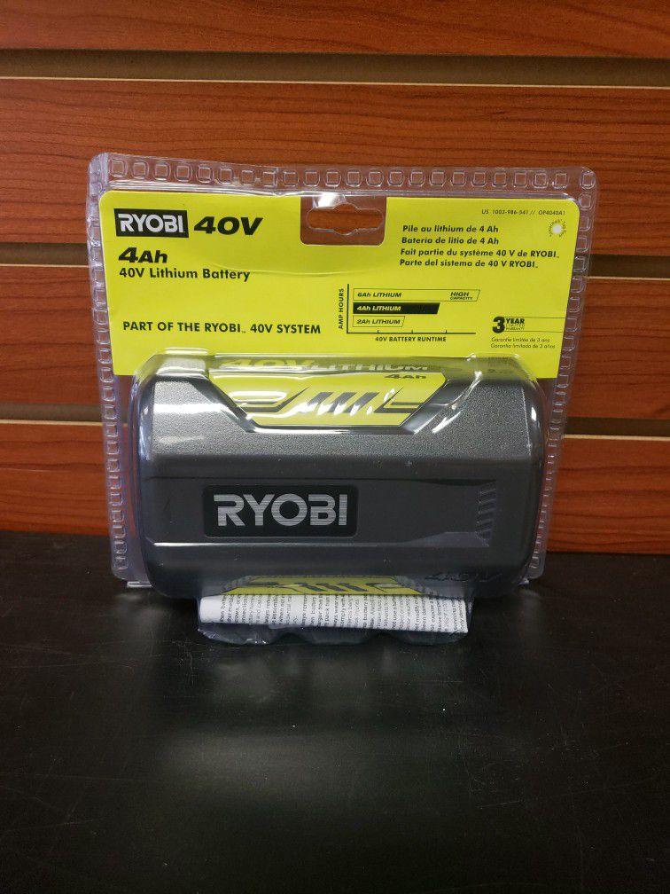 NEW Ryobi 40 Volt 4.0ah Lithium Battery OP4040A1
