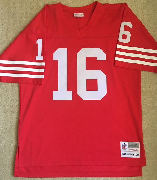 new product cd1b4 664c9 Mitchell & Ness San Francisco 49ers Joe Montana Jersey Men Size 44 Large  for Sale in Chula Vista, CA - OfferUp